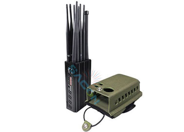 10 Channels Mobile Phone Signal Jammer 10 Watt 30m Radius With Leather Case